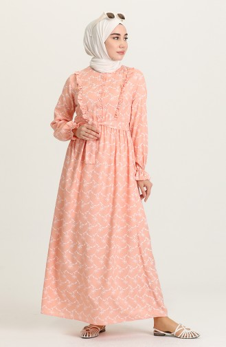 Robe Hijab Saumon 21Y8338-02