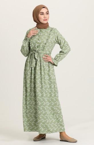 Unreife Mandelgrün Hijap Kleider 21Y8338-05