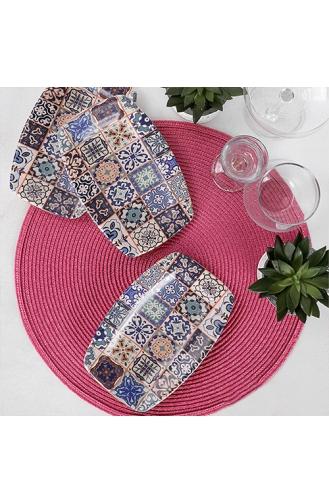 Keramika Etnik Kayık Tabak 19 Cm 3 Adet - 17612 ST500003F021ADJ2300MAF4300-01 Renkli