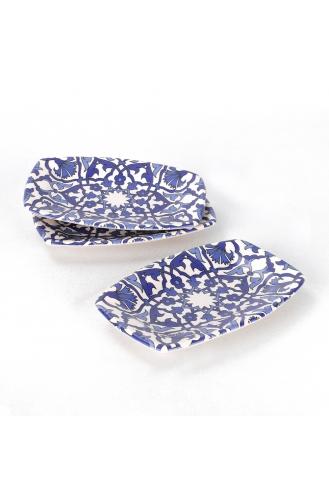 Keramika Osmanlı Kayık Tabak 19 Cm 3 Adet - 17667 ST500003F021ADJ5000MAF4300-01 Mavi Beyaz