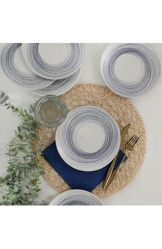 Keramika Round Line Pasta Tabağı 20 Cm 6 Adet - 18401 ST040206F022AJ09900MASD400-01 Krem