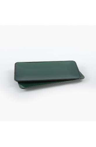 Keramika Zümrüt Siera Kayık Tabak 33 Cm 2 Adet ST032002FRA5A839700MAKYK00-01 Zümrüt Yeşili