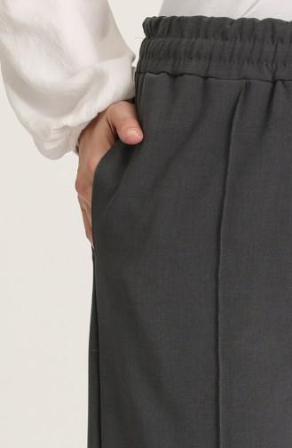 Cepli Düz Paça Pantolon 5372-04 Füme