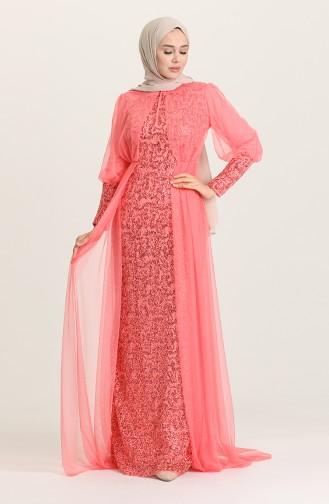 Habillé Hijab Corail 5346-14