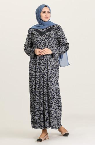 Robe Hijab Bleu Marine 4831B-01