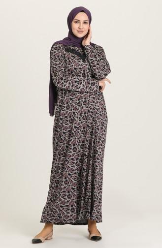Robe Hijab Rose Pâle 4831B-02