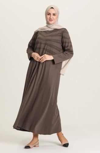 Mink Hijab Dress 4925-08