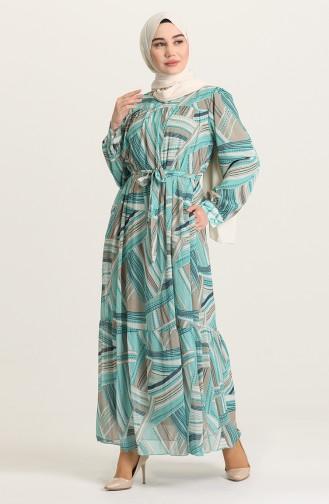 Robe Hijab Vert menthe 21Y3138400-02