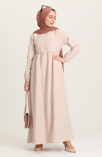 Robe Hijab Beige 6893-06