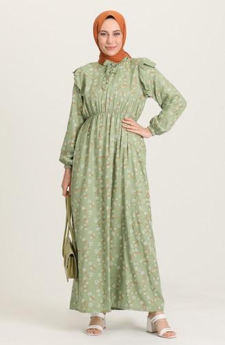 Robe Hijab Vert noisette 21Y8364-07
