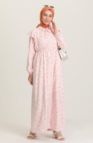 Powder Hijab Dress 21Y8364-09