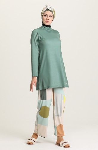 Green Swimsuit Hijab 21628-02