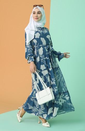 Robe Hijab Bleu 21Y3138000-02