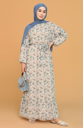 Beige Hijab Dress 21Y3138300-01