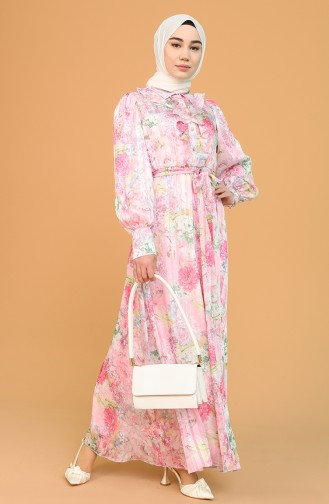 Pink Hijab Dress 21Y3138701-01