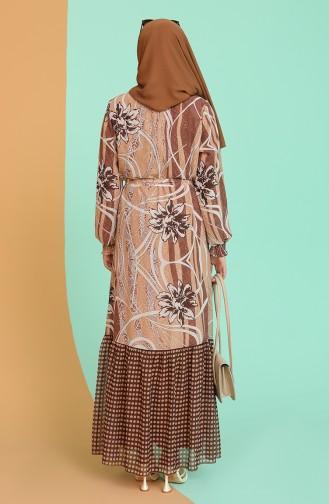 Camel Hijab Dress 21Y3138901-01