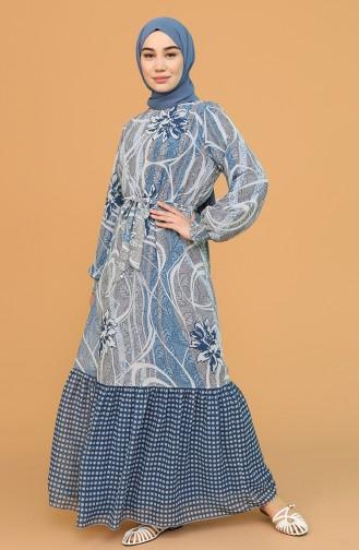 Robe Hijab Bleu 21Y3138901-02