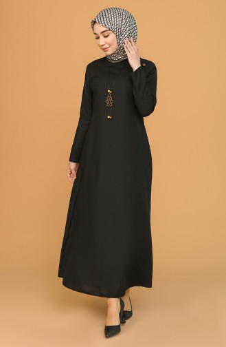 Black İslamitische Jurk 7070-05