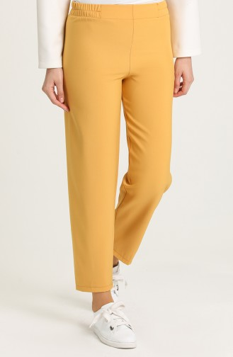 Elastic Waist Trousers 1983-18 Milk Brown 1983B-07