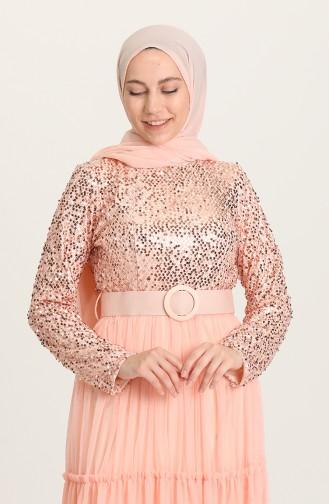 Habillé Hijab Saumon 1827-02