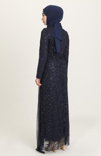 Dunkelblau Hijab-Abendkleider 202021-02