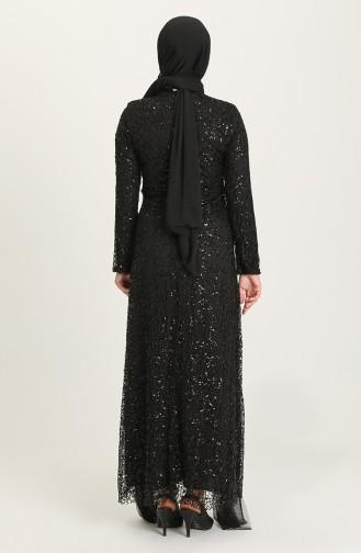 Schwarz Hijab-Abendkleider 202021-04