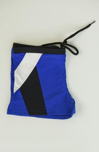 Saxon blue Swimsuit Hijab 0124-02
