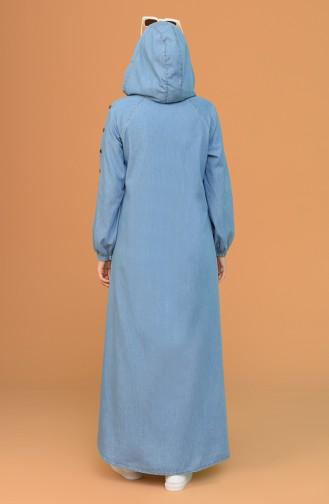 Jeansblau Abayas 4064-02