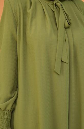 Abayas Vert khaki clair 1021-03