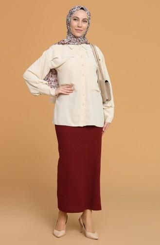 Claret Red Skirt 5639-01