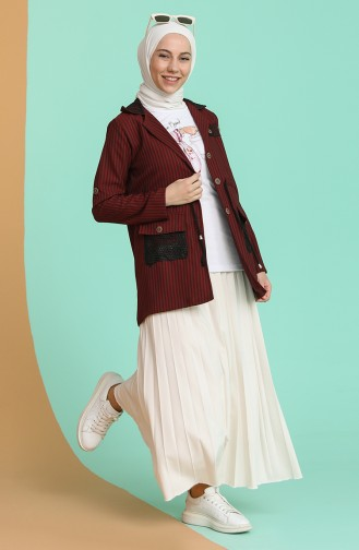 Tişört Ceket İkili Takım 9026-01 Bordo