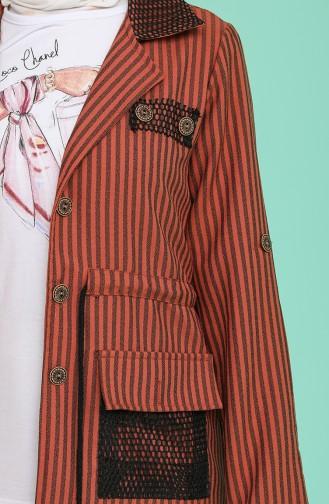 Tişört Ceket İkili Takım 9026-03 Kiremit