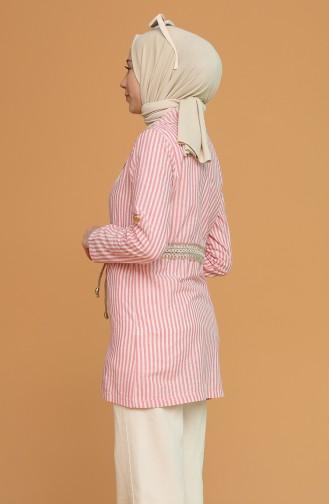 Tişört Ceket İkili Takım 9061-03 Pembe
