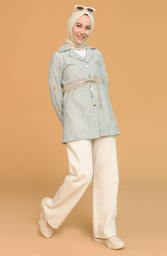 Tişört Ceket İkili Takım 9061-06 Haki