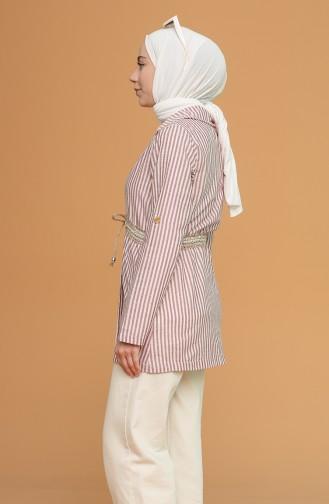 Tişört Ceket İkili Takım 9061-10 Koyu Bordo