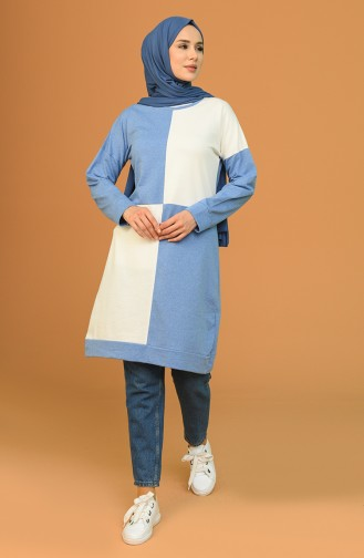 Kareli Tunik 1055-01 Mavi