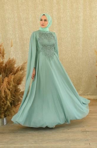 Green İslamitische Avondjurk 4868-01
