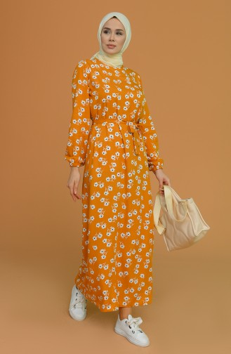 Robe Hijab Moutarde 0073-01