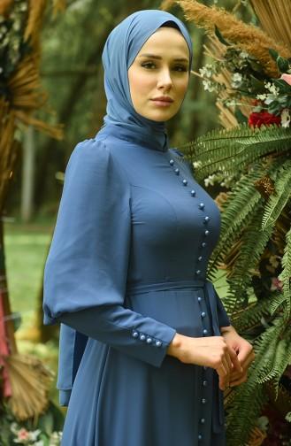 Habillé Hijab Indigo 4865-04
