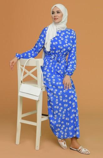 Saxe Hijab Dress 0073-05