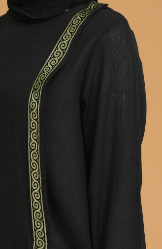 Abaya Coton 6666-02 Noir 6666-02