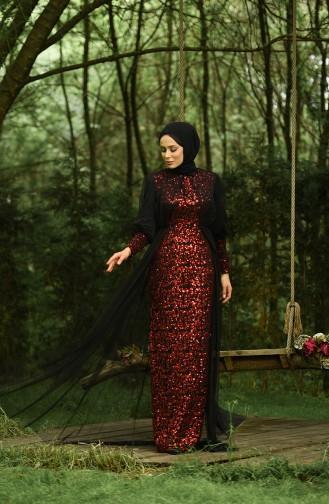 Habillé Hijab Rouge 5346-16