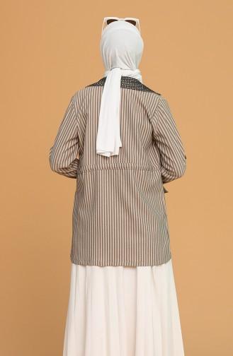 Tişört Ceket İkili Takım 9026-06 Vizon