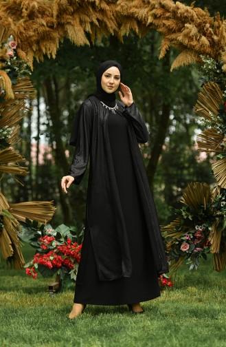 Habillé Hijab Noir 1070-02