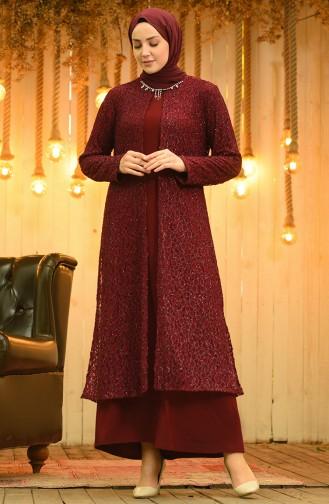Habillé Hijab Bordeaux 4288-01