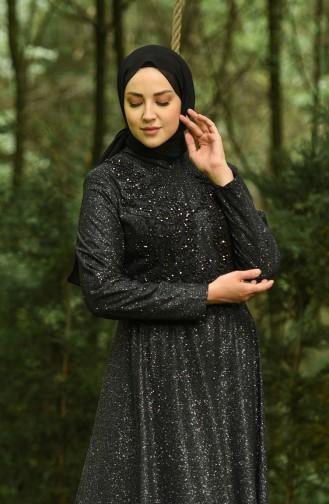 Habillé Hijab Noir 4292-03