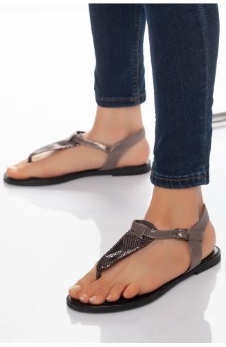 Sandales D`été Platine 10-01