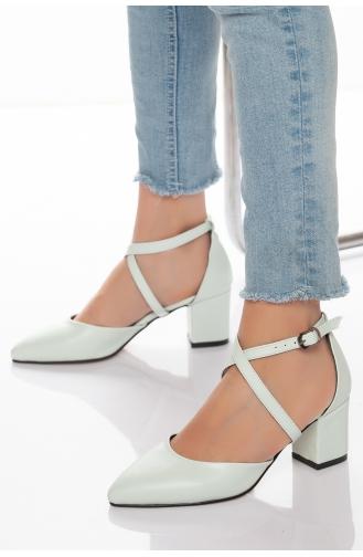 Chaussures a Talons Vert eau clair 0089SUYEŞİLİ-01
