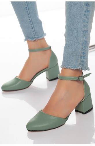 Kadın Topuklu Ayakkabı AXY0091-01 Yeşil 0091-01