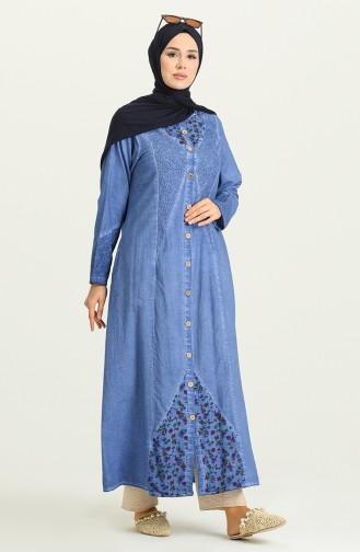 Abayas Bleu 0212-08